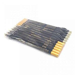 Lápis para Olhos Preto com Apontador Any Color 1301 - Pacote c/ 12 unid