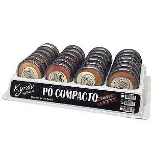 Pó Compacto Matte Cores Médias Kyrav 141 - Box c/ 24 unid