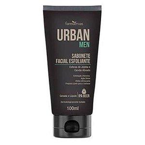 Sabonete Facial Esfoliante Urban Men IPA Farmaervas