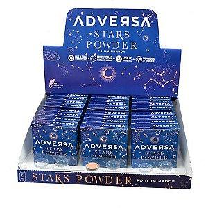 Pó Iluminador Compacto Vegano Stars Powder Adversa AD120 – Box c/ 24 unid