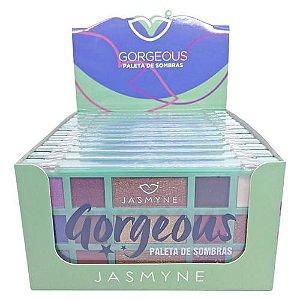 Paleta de Sombras Gorgeous Jasmyne JS01066 - Box c/ 12 unid