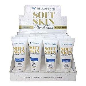 Creme Facial de Ácido Hialurônico Soft Skin Bella Femme SS80005 – Box c/ 12 unid