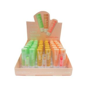 Esfoliante Labial Care Lips Scrub Fun Ruby Rose HB-8526 - Box c/ 36 unid