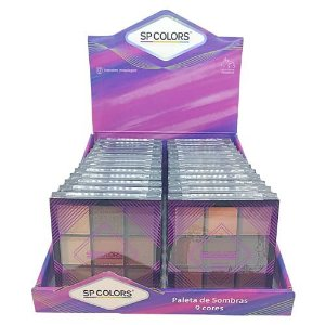 Paleta de Sombras 09 cores SP Colors SP022 – Box c/ 24 unid