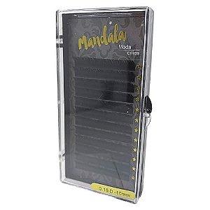 Cílios Fio a Fio 10mm Curvatura D 0.15 Mandala DF-2057