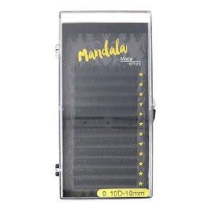Cílios Fio a Fio 10mm Curvatura D 0.10 Mandala DF-2055