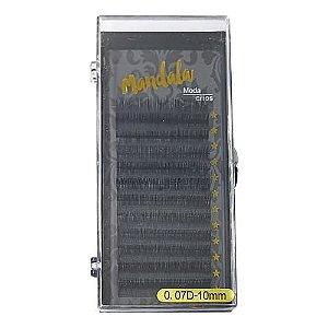 Cílios Fio a Fio 10mm Curvatura D 0.07 Mandala DF-2053