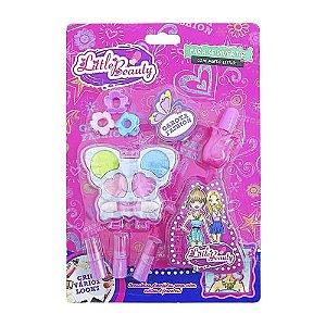 Brinquedo Infantil Kit Maquiagem para Boneca Little Beauty Borboleta BAR-51104