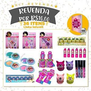 Revenda por R$10,00 Linha Infantil - 36 Itens