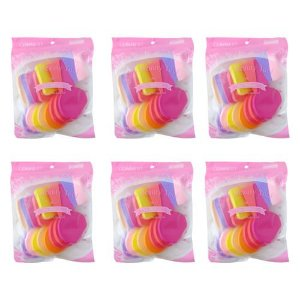 Kit com 17 Esponjas Comfort Classic For Make-up – Pacote c/ 06 unid