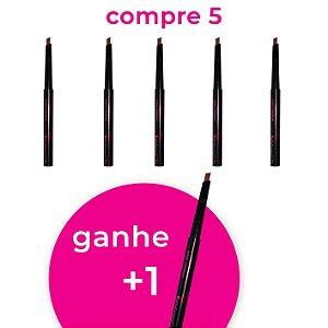 Pague 5 Leve 6 - Lápis Retrátil Universal para Sobrancelha Chanfrado Bella Femme BF10035