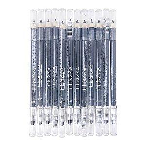 Lápis de Olho Preto com Esfumador Fenzza FZ14022 - Pcte c/ 12 unid