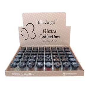 Glitter em Pó Collection Belle Angel T054 – Box c/ 48 unid