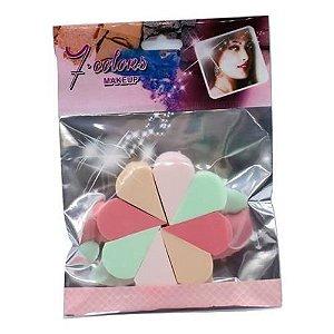 Esponja para Maquiagem Seven Colors YZ-916 – Pacote c/ 12 unid