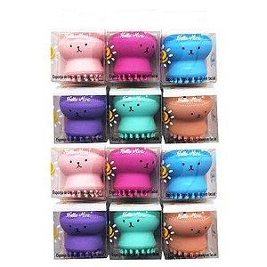 Esponja de Limpeza Facial Esfoliante Polvinho Hello Mini LS260 - Pacote c/ 12 unid