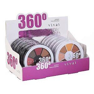 Estojo de Sombras Matte e Metálico 360° Vivai 4040.9.1 – Box c/ 12 unid