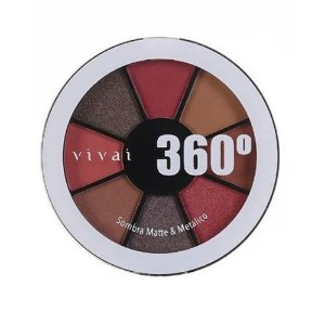 Estojo de Sombras Matte e Metálico 360° Vivai 4040.9.1