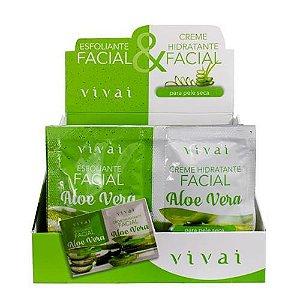 Gel Hidratante e Esfoliante Facial Aloe Vera Vivai 5055.5.1 – Box c/ 24 unid