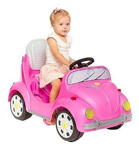 Carrinho De Passeio Infantil A Pedal 1300 Fouks - Rosa
