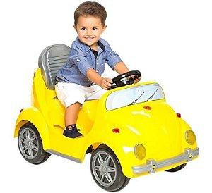 Carrinho De Passeio Infantil A Pedal Fouks - Amarelo