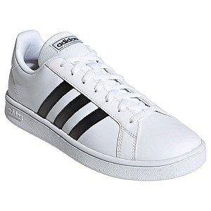 Tênis Adidas Grand Court Base W 34-39 Branco e Preto Adulto