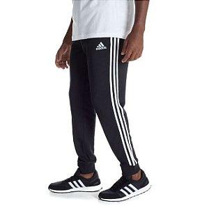 Calça Adidas Essentials 3 Listras Masculina Preto