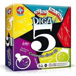 Jogo Diga 5 - Carta e Tabuleiro e com Desafios Estrela
