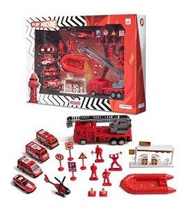 Play Machine Bombeiro Resgate Brinquedo Br969