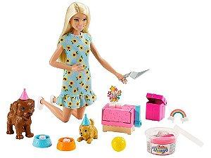 Boneca Barbie Aniversário do Cachorrinho Acessórios Mattel