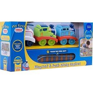 Tapete Ginásio Thomas e Amigos com Locomotivas Mattel