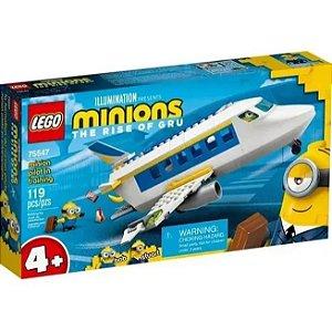 Lego Minions Piloto Recebendo Treinamento Avião 119 peças