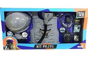 Kit Piloto Brincando De Ser Piloto Multikids Br1121