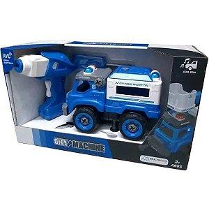 Caminhão de Transporte Policial Controle Remoto City Machine