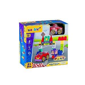 Blocos de Montar Multikids Cubic Jr City Car 21Pcs Br1395