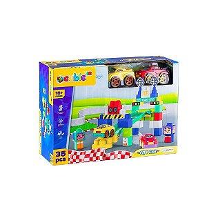 Blocos de Montar Multikids Cubic Jr City Car 35Pcs Br1396
