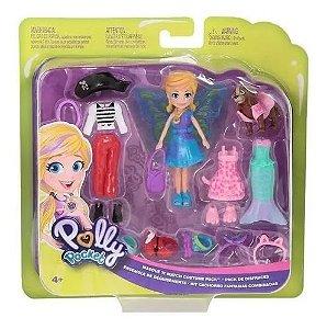 Boneca Polly Pocket e Cachorrinho c/Fantasias Mattel