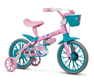 Bicicleta Infantil Com Rodinha e Garrafa Aro 12 Charm Nathor
