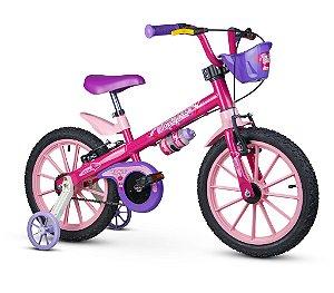 Bicicleta Infantil C/ Rodinha Garrafa Aro 16 Top Girl Nathor