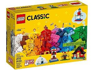 Blocos de Monar Lego Classic Blocos e Casas 270 Peças 11008