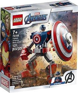 Blocos de Montar Lego Robô do Capitão América 121Pçs 76168