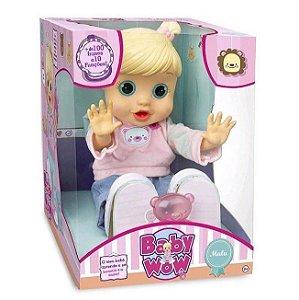 Boneca Divertida Bebê Baby Wow Malu Multikids BR580