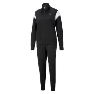 Conjunto Agasalho Puma Classic Tricot Suit Feminino Preto