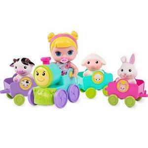 Trenzinho Com Boneca Lil Cutesies e Pets Cotiplás 2321