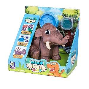 Dino World Baby Mamute Brinquedo c/Som e Massinha p/Modelar