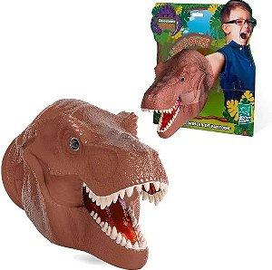 Fantoche Cabeça Dinossauro T-Rex Infantil em Vinil Sortido