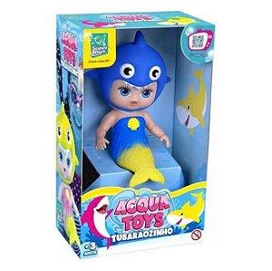Boneca Acqua Toys Tubarãozinho Bebê Baby Shark Super Toys