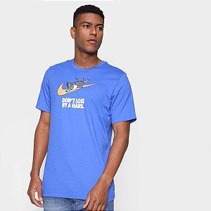 Camiseta Esportiva Nike Hare Masculina Poliéster Manga Curta