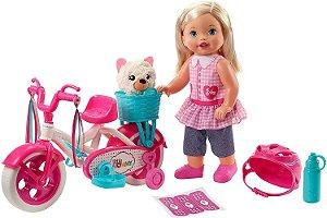 Boneca Little Mommy Meu Primeiro Passeio Loira Vinil Mattel