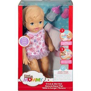 Boneca Little Mommy Bebê Faz Xixi Loira Fbc89 Mattel