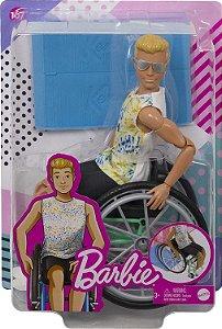 Boneco Ken Cadeirante Fashionista Loiro Articulado Mattel